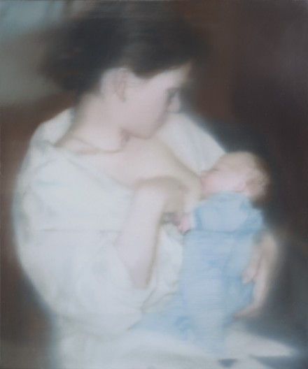 "Gerhard Richter, Series: ""S. mit Kind"" (S. with child) (1995)"