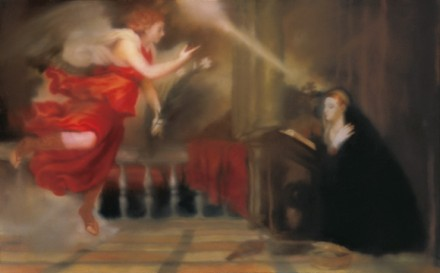 "Gerhard Richter, Series: ""Verkündigung nach Tizian"" (Annunciation after Titian) (1973)"