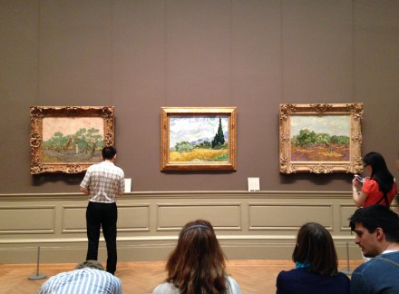 Installation view of Vincent Van Gogh Collection at the Met, via Art Observed