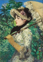 Manet's Le Printemps (1881), via New York Times