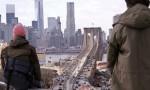 Matthias Wermke and Mischa Leinkauf above the Brooklyn Bridge, via The Guardian