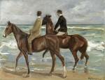 Max Liebermann, Two Riders on a Beach, via Artnews