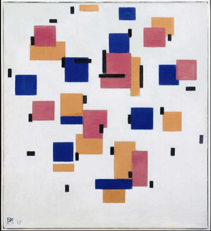 Piet Mondrian, Compositie in Kleur B (Composition in Colour B) 1917 Kröller-Müller Museum, Otterlo, The Netherlands © 2014 Mondrian/Holtzman Trust c/o HCR International USA