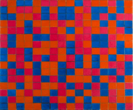 Piet Mondrian, Composition with Grid 8 Checker board Composition with Dark Colours (1919), Collection Gemeentemuseum Den Haag. © 2014 Mondrian:Holtzman Trust c:o HCR International