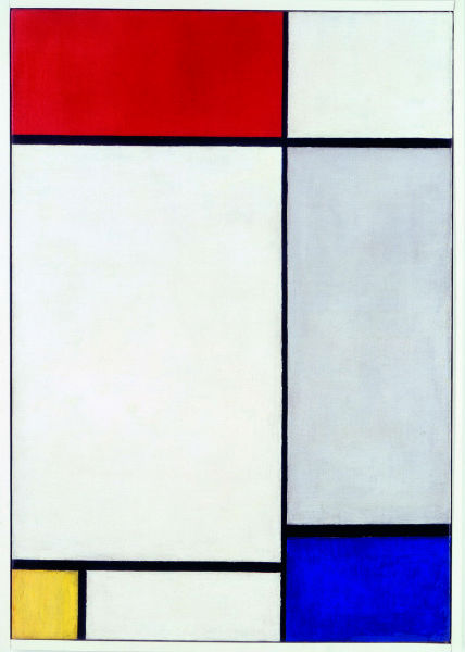 Piet Mondrian, Composition with Red, Yellow and Blue (1927) Photo Museum Folkwang, Essen, © 2014 Mondrian/Holtzman Trust c/o HCR International USA