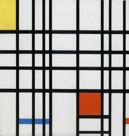 Piet Mondrian Composition with Yellow, Blue and Red (1937-42) © 2014 Mondrian/Holtzman Trust c/p HCR International