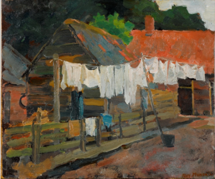 Piet Mondrian, Farmhouse with Wash on the Line (1897), Collection Gemeentemuseum Den Haag, The Netherlands © 2014 Mondrian:Holtzman Trust c:o HCR International USA