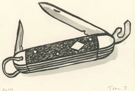 Thomas Slaughter, Boy Scout Jack Knife (2014), all images courtesy of The Drawing Center