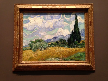 Vincent Van Gogh, Wheat Field with Cypresses, 1887, via Art Observed