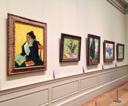 Vincent Van Gogh, installation view (2), via Art Observed