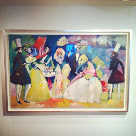 Wassily Kandinsky, Group with Crinolines (1909), via Art Observed