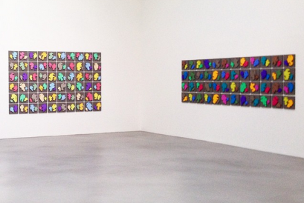 Allan McCollum, The Shapes Project Perfect Couples (Installation View), via Art Observed