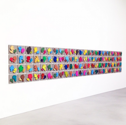 Allan McCollum, The Shapes Project: Perfect Couples (Installation View), via Art Observed
