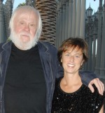 Jessica Morgan with John Baldessari, via Artnet