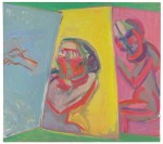 Maria Lassnig, Two Painters, Three Canvases, 1986, via The Telegraph