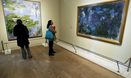 A Monet exhibition at the Royal Academy of Arts in 2007, via The Guardian