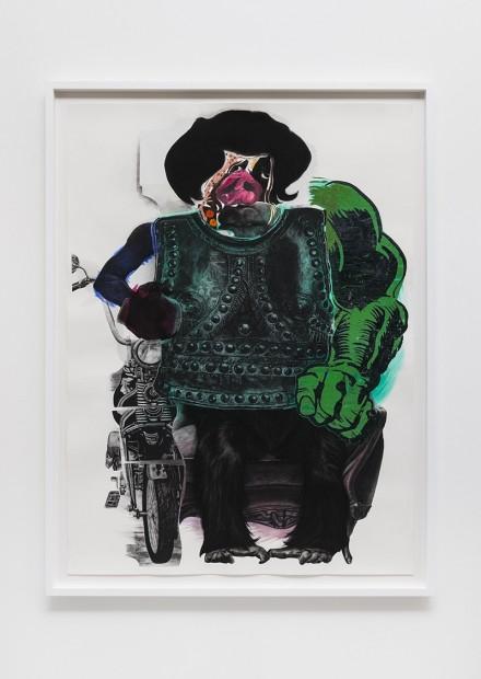 Nathaniel Mary Quinn, Motorcycle Pig (2014)