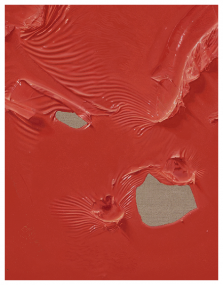 Paul Sietsema, Red painting (detail) (2014), all images courtesy Matthew Marks Gallery
