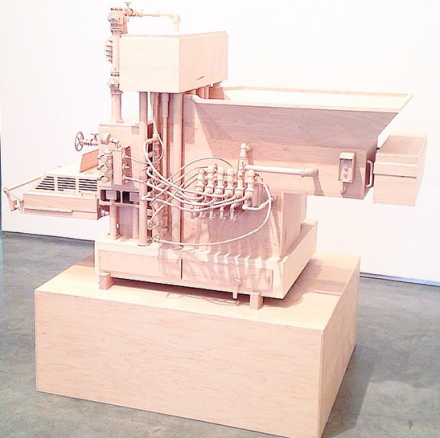 Roxy Paine, Machine of Indeterminacy (2014), via Henry Murphy for Art Observed