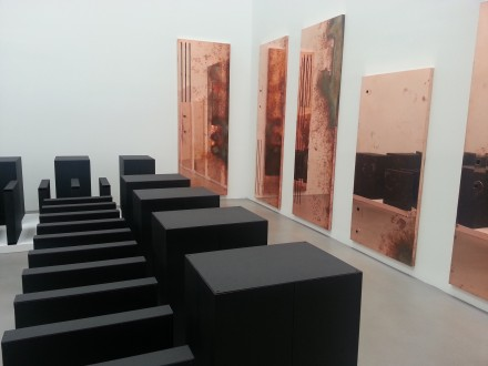 Walead Beshty, Performances Under Working Conditions (Installation View) via Emily Heinz for Art Observed
