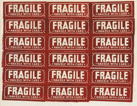 Andy Warhol, Fragile - Handle With Care (1962), via Sotheby's