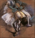 Edgar Degas, Ballerina Adjusting Her Slipper