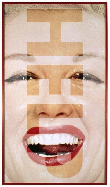 Barbara Kruger, Untitled (HELP) (2001), via Sprüth Magers