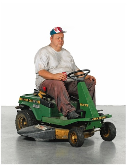Duane Hanson, Man on a Mower (1995)