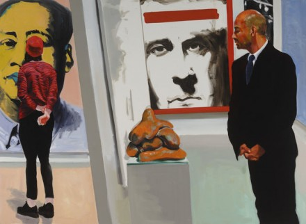 Eric Fischl, Art Fair Booth #16 Sexual Politics (2014), via Victoria Miro