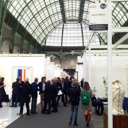 Inside the Grand Palais for FIAC