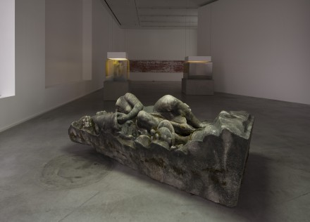 Pierre Huyghe, IN. BORDER. DEEP. (Installation View) Hauser & Wirth London, 2014, © Pierre Huyghe Courtesy of the artist, Hauser & Wirth, London Photo: Hugo Glendinning