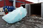 Installation for Olafur Eliasson's Ice Watch, via Art News