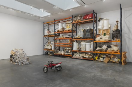 Jason Rhoades, PeaRoeFoam (Installation View), via David Zwirner
