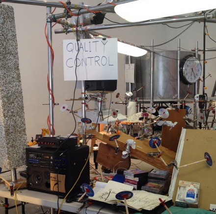 Jason Rhoades, The Grand Machine/THEAREOLA (2002), via Henry Murpy for Art Observed