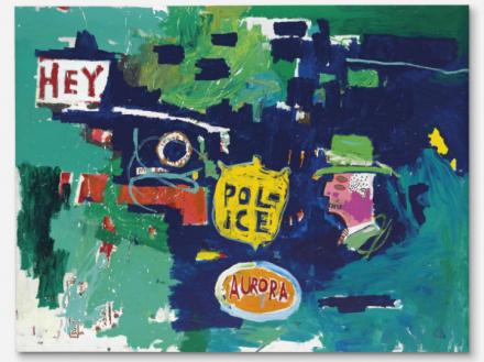 Jean-Michel Basquiat, Love for Dub A (1987), via Christie's
