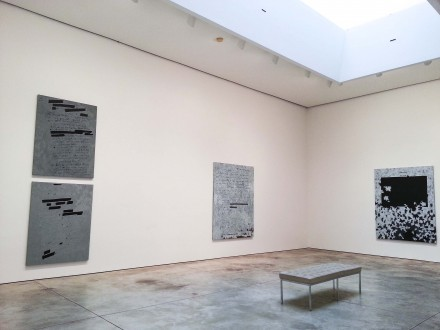 Jenny Holzer, Dust Paintings (Installation View) via Emily Heinz for Art Observed