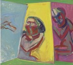 Maria Lassnig, Two Painters, Three Canvases, via WSJ