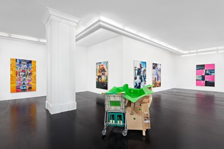 Mike Bouchet, Power Lunch (Installation View), via Peres Projects