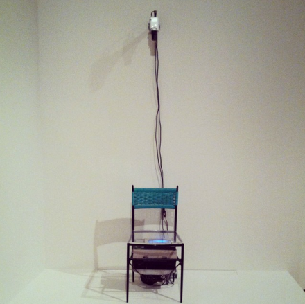 Nam June Paik, TV Chair (1968), via Art Observed