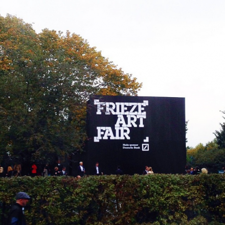 Outside the Frieze Fair, via Art Observed
