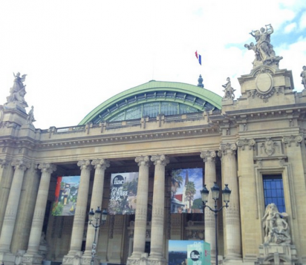 Outside the Grand Palais for FIAC, via Art Observed