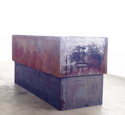 Richard Serra, Dead Load (2014), via Art Observed