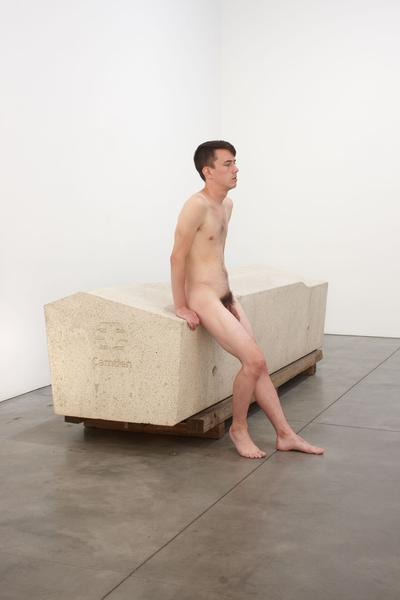 Roger Hiorns, Untitled (Security Object) with model (2013)