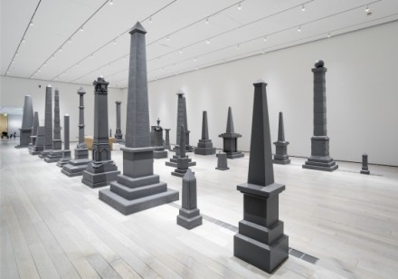 Sam Durant, Proposal for White and Indian Dead Monument Transpositions, Washington D.C (2005), via LACMA