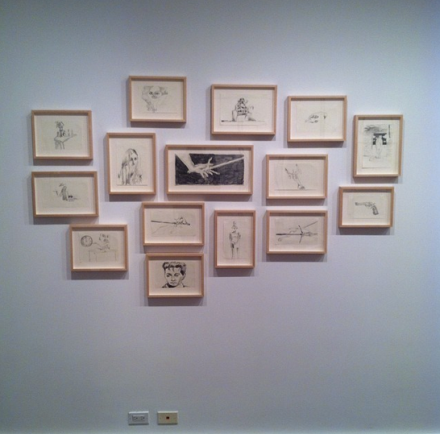 A Series of Drawings by Mark Gonzalez at Hauser and Wirth, via Art Observed