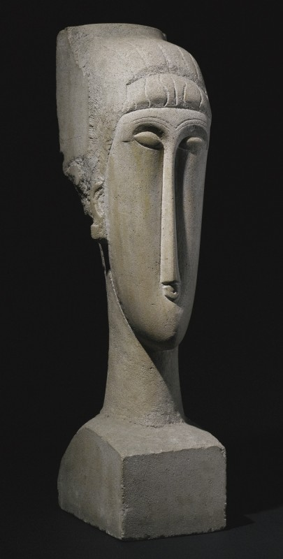 Amedeo Modigliani, Tête (1911-12), via Sotheby's