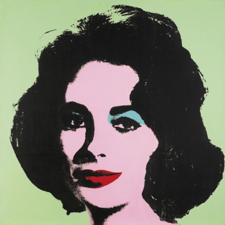 Andy Warhol Liz #3 (Early Colored Liz) (1963), via Sotheby's