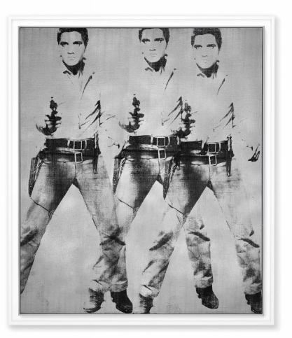 Andy Warhol, Triple Elvis [Ferus Type] (1963), via Christie's