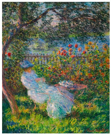 Claude Monet, Alice Hoschedé Au Jardin (1881), via Sotheby's