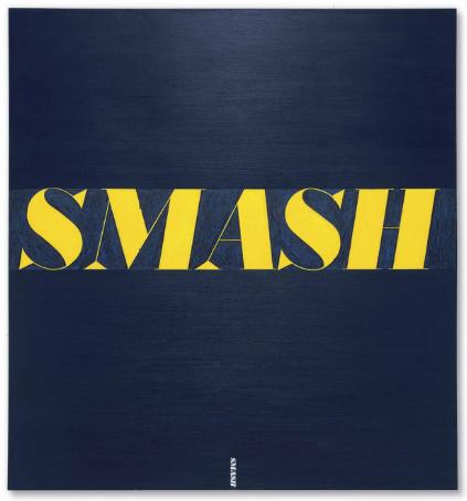 Ed Ruscha, Smash (1963), via Christie's